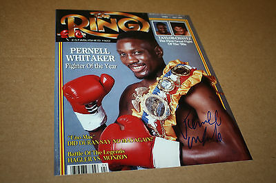 """Pernell """"sweet Pea"""" Whitaker Signed 8X10 Photo Ring Magazine Cover W/belt"""