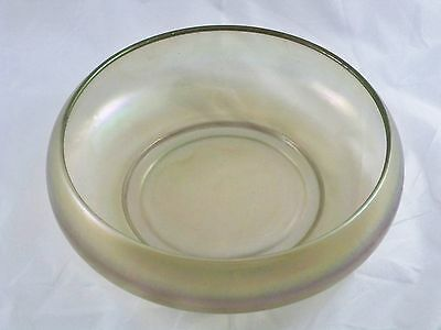 Imperial Stretch Glass Smoked Large Console Bowl