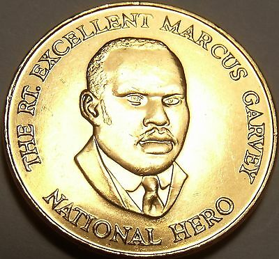 Gem Unc Jamaica 2003 25 Cents~Marcus Garvey National Hero~Excellent~Free Ship