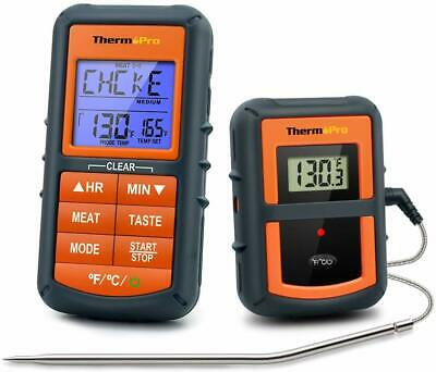 ThermoPro TP07 Digital LCD Wireless Meat Cooking Thermometer for BBQ Oven Smoker