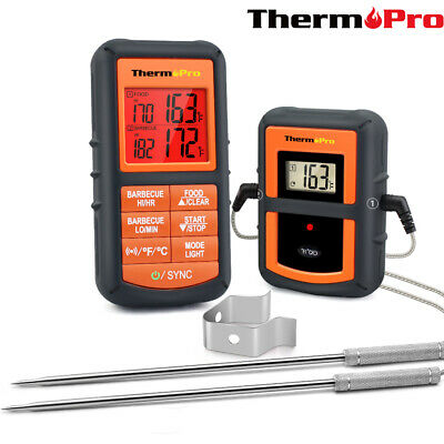 ThermoPro Digital Remote Smoker Dual Probe Wireless Meat Oven BBQ Thermometer
