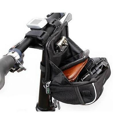 Bike Bicycle Cycling Front Handlebar Holder Pannier Pouch Waterproof Case Bag G