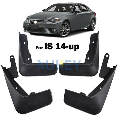 For 14-17 Lexus IS 250 350 200t 300/h Mudflaps Mud Flaps Splash Guard Mudguards