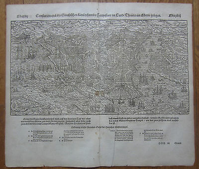 MÜNSTER/MUNSTER: Cosmographia View Constantinople Istanbul - 1592