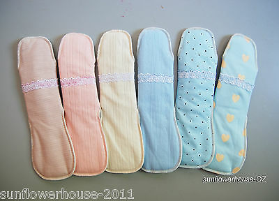 2 x Cotton Reusable Pads NIGHT menstrual continence sanitary panty liner cloth