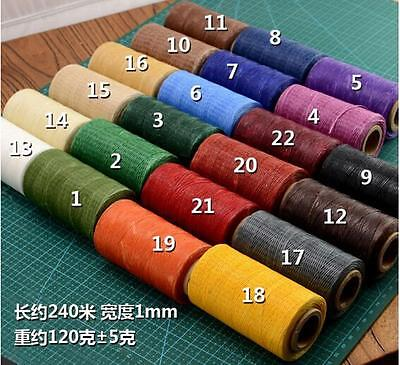 New 260m Leather Sewing Waxed Thread 1MM Chisel Awl Upholstery Shoes Luggage Set