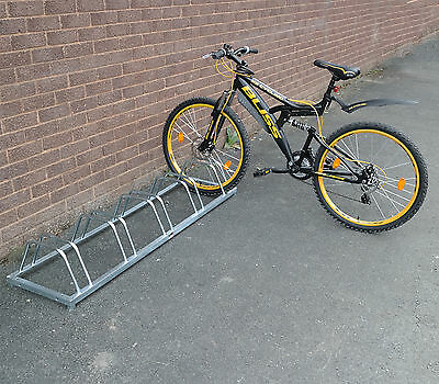 Bike Floor / Wall Mount Galvanized Bicycle Rack Stand Storage 3/4/5 Bike Cycle