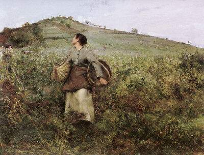 Jules Bastien-Lepage Oil Painting repro At Harvest Time