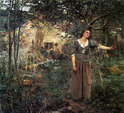 """Jules Bastien-Lepage Oil Painting repro Joan of Arc 24""""x24"""""""