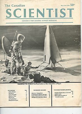 Old THE CANADIAN SCIENTIST magazine 1968 astronauts on MARS awesome space scene