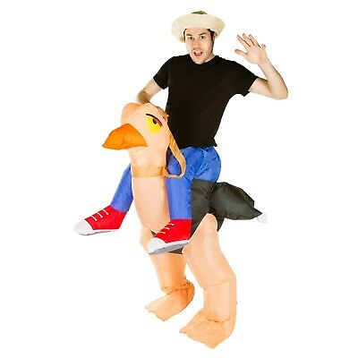 Adult Funny Inflatable Animal Ostrich Fancy Dress Costume Outfit Suit Halloween