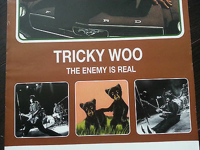Tricky Woo Rock Poster The Enemy is Real Rare Glossy Advertisement 1997