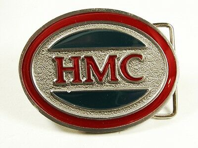 1970's HMC ? Construction ? Red Blue Belt Buckle by CD HIT Made In USA 101915