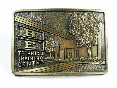 1970's BE Bucyrus - Erie Training Center Brass Belt Buckle by RJ 101915