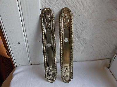 French bronze  push plate door plate a pair of classic awesome antique