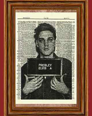 Elvis Presley Dictionary Art Print Book Page Picture Poster Underwear Army Photo