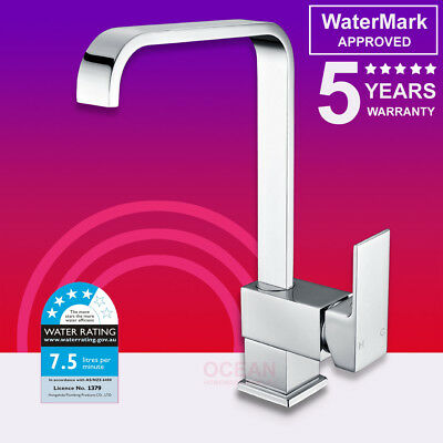 WELS WATERMARK Shower Kitchen Basin Swivel Mixer Tap Sink Laundry Faucet Chrome