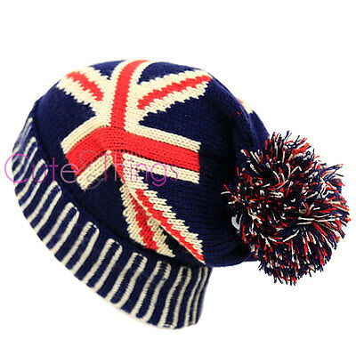 45e51f0008167 UK FLAG BEANIE Union Jack United Kingdom Great Britain Skull Cap ...