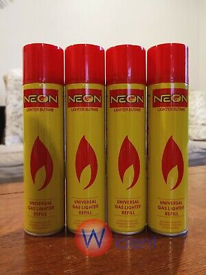 4Pk SUN Ultra Refined Butane Gas Filtered Lighter Refill Fuel with 5 Adapters