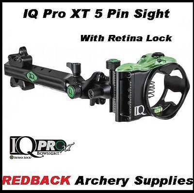 IQ Pro xt 5 pin Compound Bow Sight LEFT Handed with Retina Lock