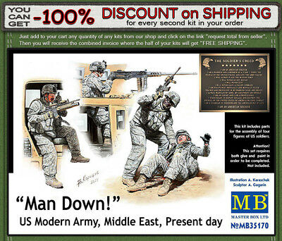 Present day US Modern Army Middle East MasterBox MB35170 1//35 Man Down