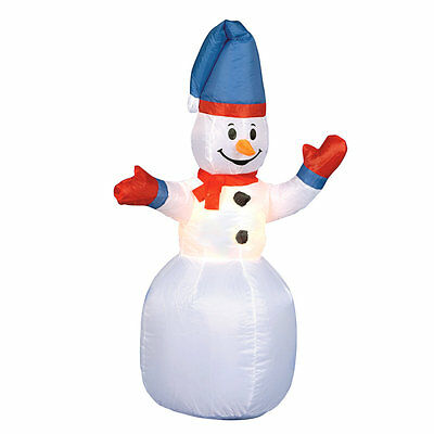 1.2m / 4ft Inflatable Christmas Snowman LED Lit Indoor / Outdoor Xmas Decoration