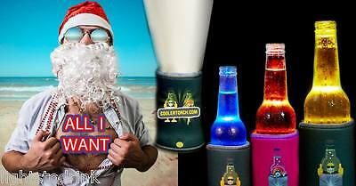Black Stubby Cooler Torch 10 Pack - Glow Products & Fun Toy's Glowing Drinks