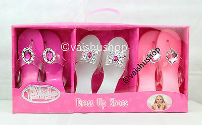 Girls Dress Up Shoes 3 Pairs Angel Princess shoes New Birthday Present TY643