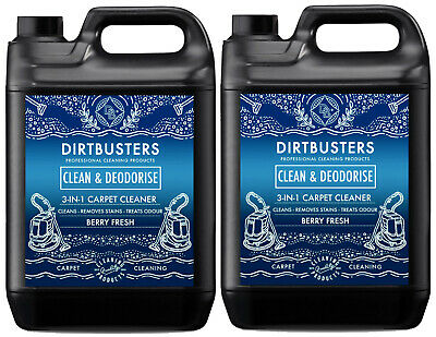 Carpet cleaning solution shampoo odour deodoriser Upholstery Cleaner 2 x 5L vax