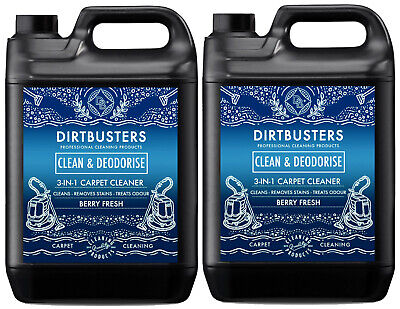 Dirtbusters Carpet cleaning solution shampoo berry fresh Cleaner 2 x 5L vax