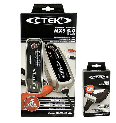 CTEK MXS 5.0 Battery Charger 12V + Bumper