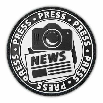 Press Photo News Team Swat Ops Army Military Tactical Morale Badge Patch