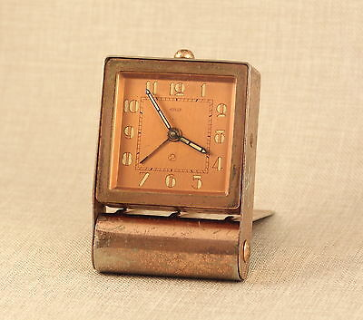 Art Deco JAEGER ( le Coultre ) Pocket Watch traveling clock Uhr Reiseuhr 古董掛表