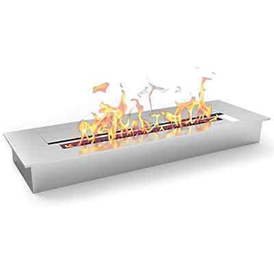 Flame Fireplaces Ventless Ethanol Stainless Steel Bio Wall Heater Fuel Mounted