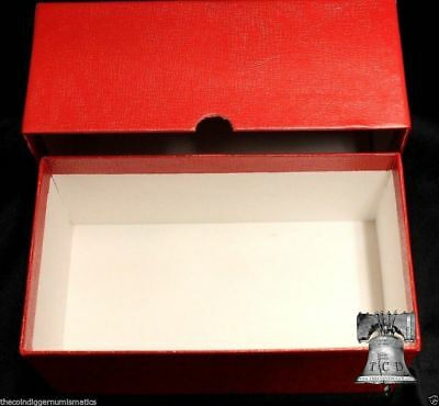 LARGE Currency Storage Box Holder U.S. Size Banknote Bill Foreign Money RED