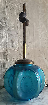 Signed glass lamp Marius Ernest Sabino ORIGINAL RARE colour