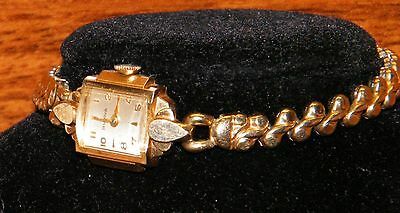 Vintage Bulova Swiss Gold Toned 12 Hour Analog Wrist Watch For Male Or Female!