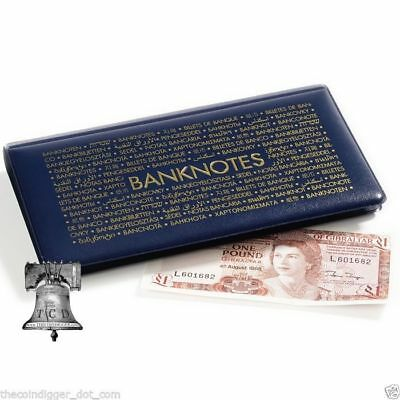 Lighthouse Banknotes Pocket Album Wallet Dollar Bill Currency Paper Money Holder