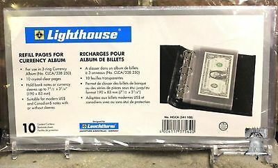 10 Lighthouse Refill Page Small Currency Holder Storage Album Pages CLCAH Case