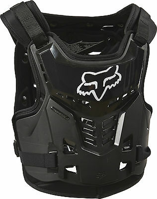 Fox Racing Black Youth Proframe LC MX/Off-Road Roost Deflector/Chest Protector