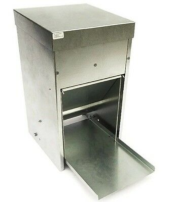 "NEW 7.5kg ""STEEL"" TREADLE FEEDER RAT & WILD BIRD PROOF Chicken CHOOK Poultry HEN"