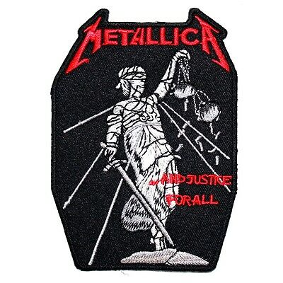 METALLICA Justice Heavy Metal Hard Rock Band Punk T-Shirt Embroidered Iron patch