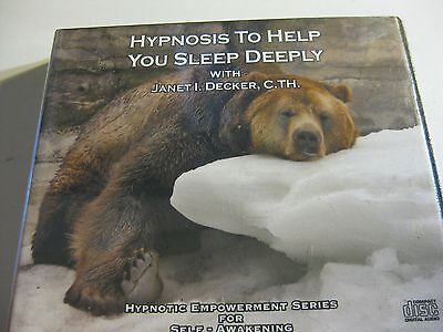 CD Hypnosis To Help You Sleep Deeply Janet I Decker Hypnotic Empowerment RRP $70