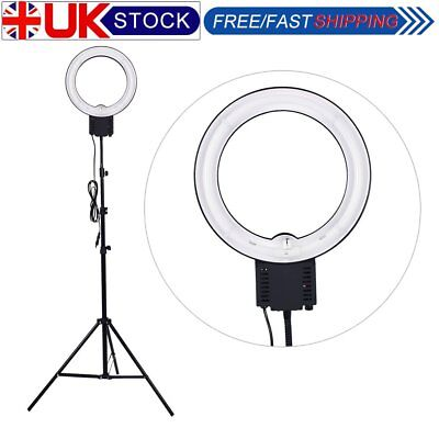 UK Studio 40W 5400K 32cm Fluorescent Photo Video Makeup Ring Light with 2m Stand