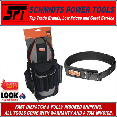 Bahco Electricians Tool Pouch & Work Belt Combo Kit 4750-Ep-1 & 4750Qrlb-1 - New