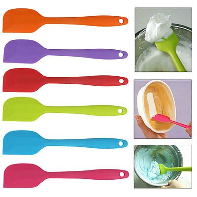 Cooking Baking Scraper Cake Spatula Butter Mixer Silicone Kitchen Utensil Tool