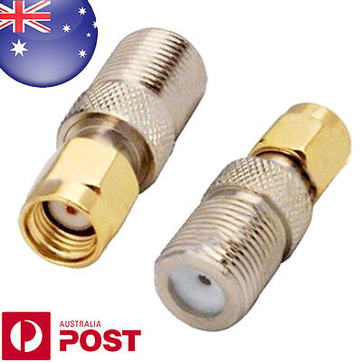 RF Connector Adapter RP SMA Male Plug to F Type Jack Female Straight Z175