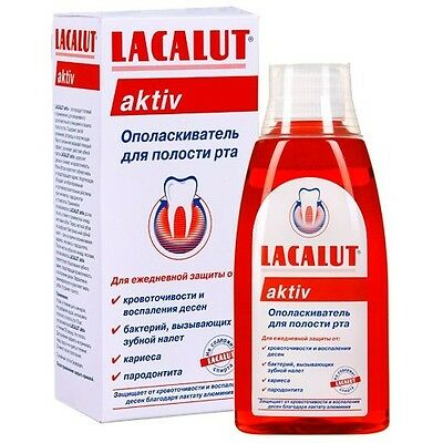 LACALUT Aktiv Mouthwash Everyday Prevention from Gum Infection, Plaque, Caries