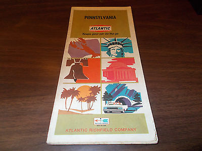 1968 Atlantic Pennsylvania Vintage Road Map
