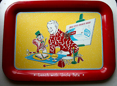 Vintage Lunch with Uncle Pete Boyle/Snooper Tray 1950s Acme Market Supreme Bread